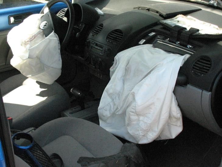Deployment of Airbags from Collision