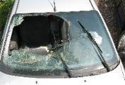 Crushed Windshield