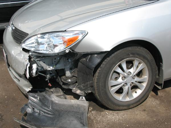 Vehicle Damage from Front End Crash