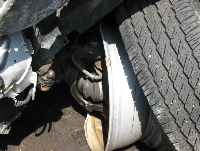 Wheel Assembly Damage from Accident
