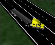 3D Jack-knife Semi-Truck #2